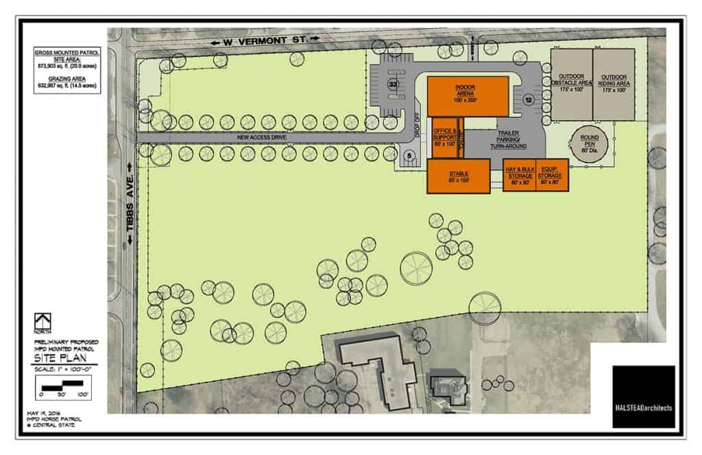 Proposed IMPD Mounted Patrol Facilities and Land Use