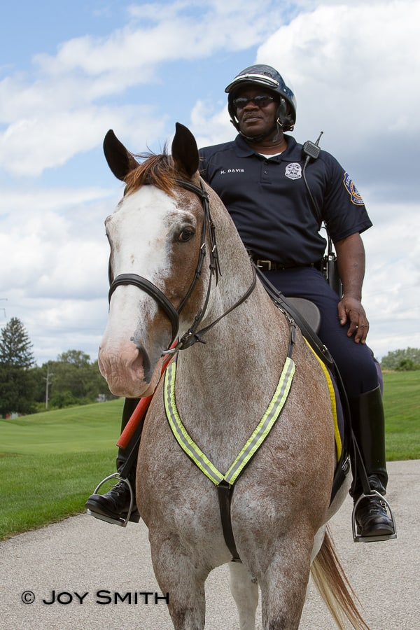 Officer Davis with Dusty