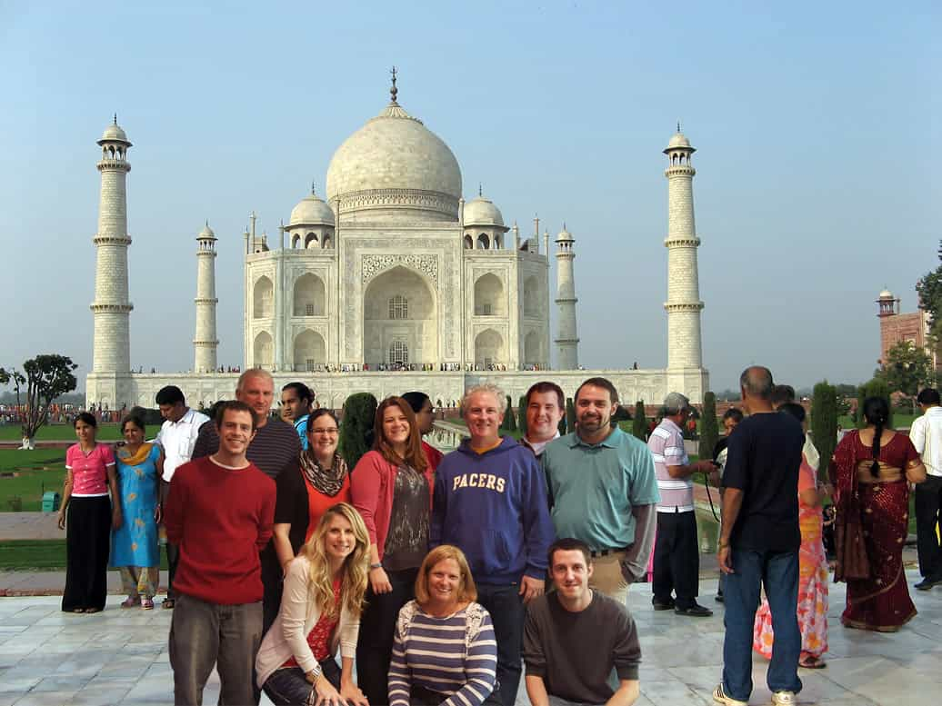 "Halstead Architects team members, ""on vacation"" at the Taj Mahal."
