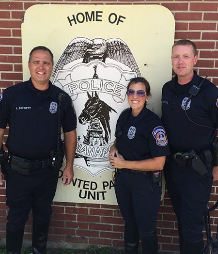 Officers Schmitt, Craney, and Pryce