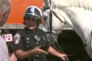 Riding with the Mounted Patrol, by WISH TV
