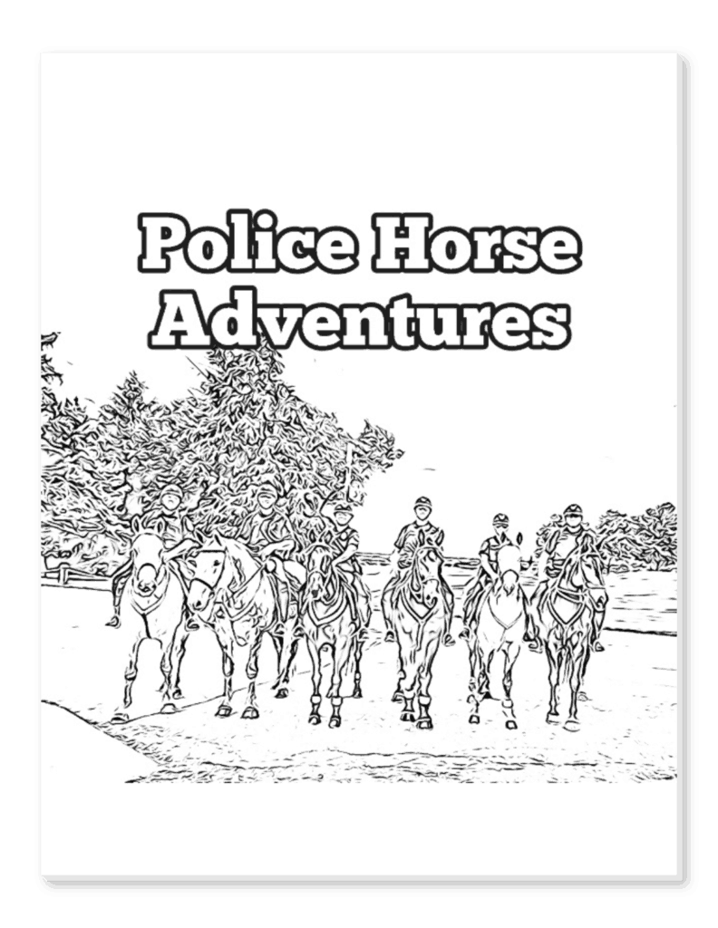 Download this free IMPD Mounted Patrol coloring book! 16