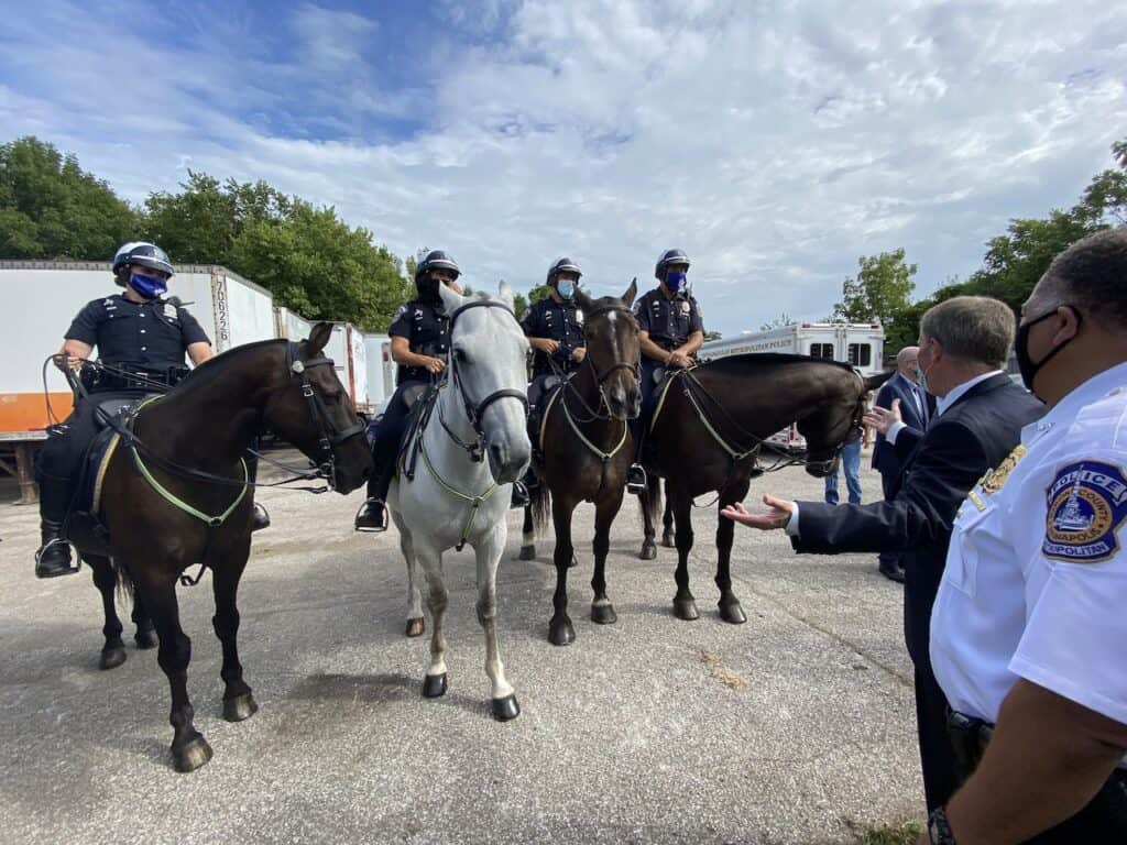 IMPD Mounted Horse Patrol and Mayor Joe Hogsett