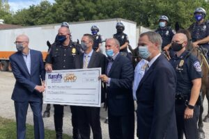 Caesars Entertainment Group makes $50,000 gift to fund new IMPD Horse Patrol barn